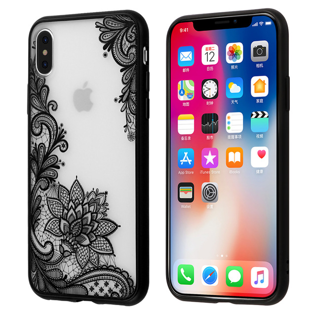 black lace iphone x case