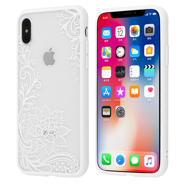 white lace iphone x cover
