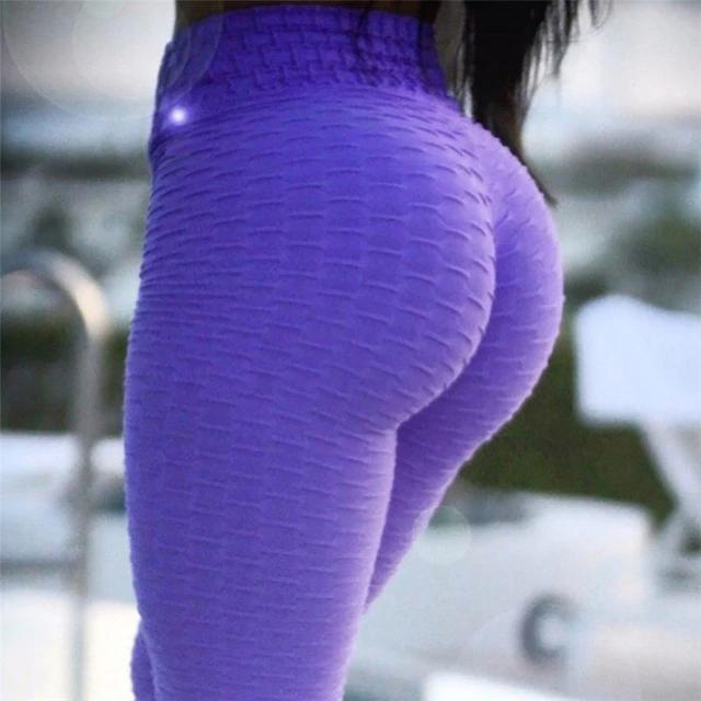5cda75ceb85f1 Colorful Ribbed Folded Fabric Women's Yoga Pants Leggings - Retailite