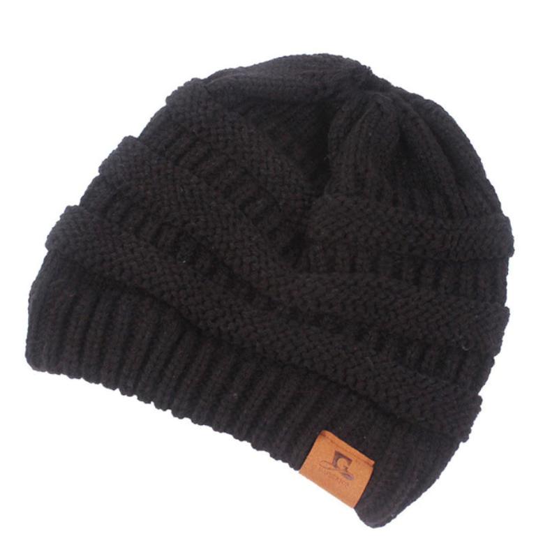Women s Ponytail Hole Beanie Skull Cap Hats - Retailite 6587cbeac3e
