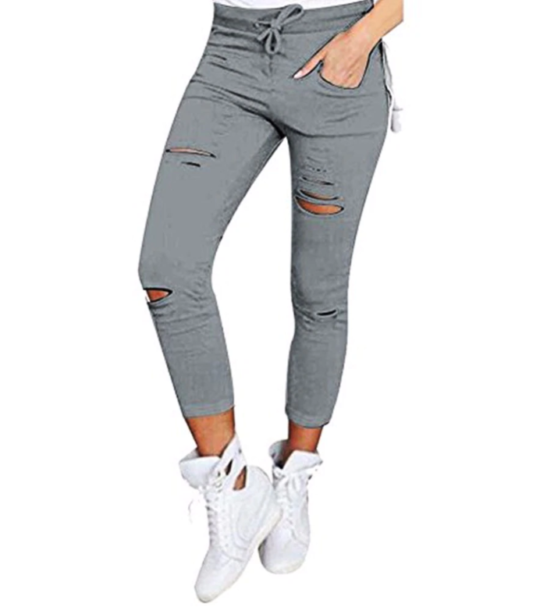 e1d6decdc11 Ripped Women's Skinny Jeans in Black / Grey / White / Green / Red ...