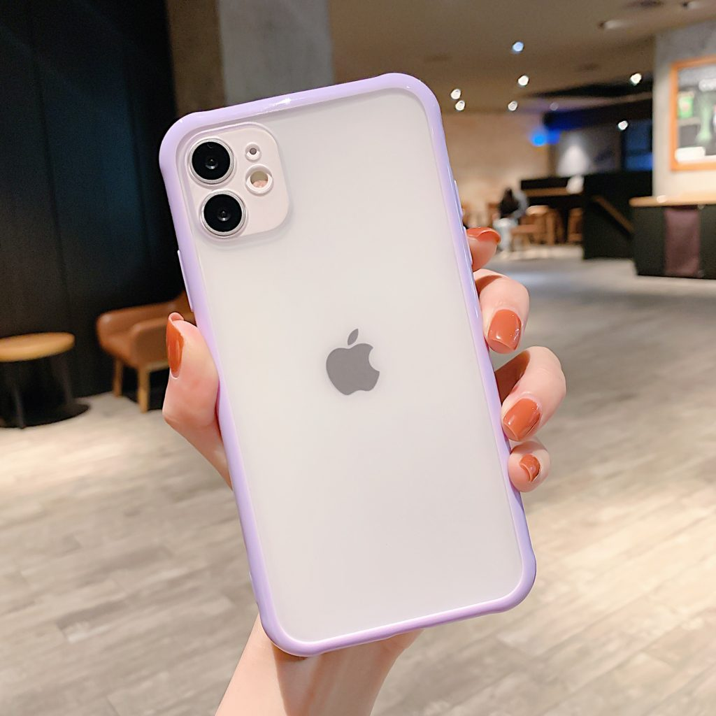 purple candy color border iphone 12 case